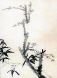"""""""Бамбук и сакура"""" по рисунку Ши Тао"""