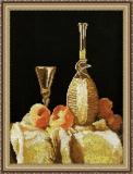 """""""Натюрморт с персиками и вином"""" М. Рамзей"""
