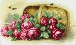 """""""Розы в корзине"""" по картине Пауля де Лонгпре"""