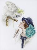 """""""Дама с попугаем"""" по картине Фишера"""
