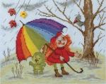 """""""Под радугой"""" по рисунку В.Кирдий"""