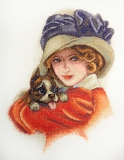 """""""Дама с собачкой"""" по картине Х. Фишера"""
