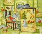 """""""Рождественское одеяло"""", по рисунку В.Кирдий"""